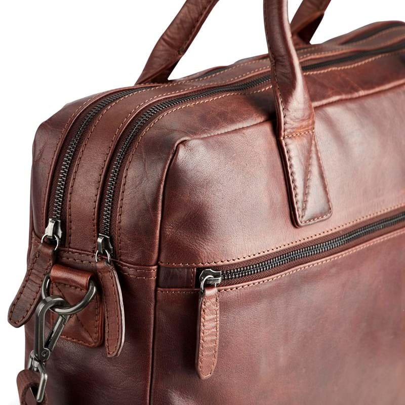 Tyler & Co Computertaske Denver Cognac 6