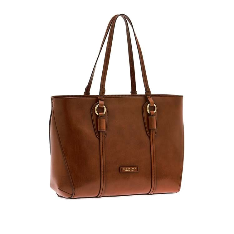 The Bridge Shopper Strozzi Brown Croco 1