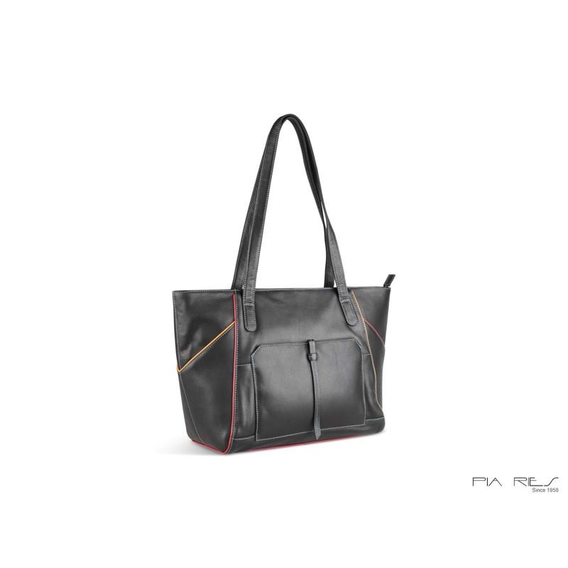 Pia Ries Shopper Sort/Turkis 2