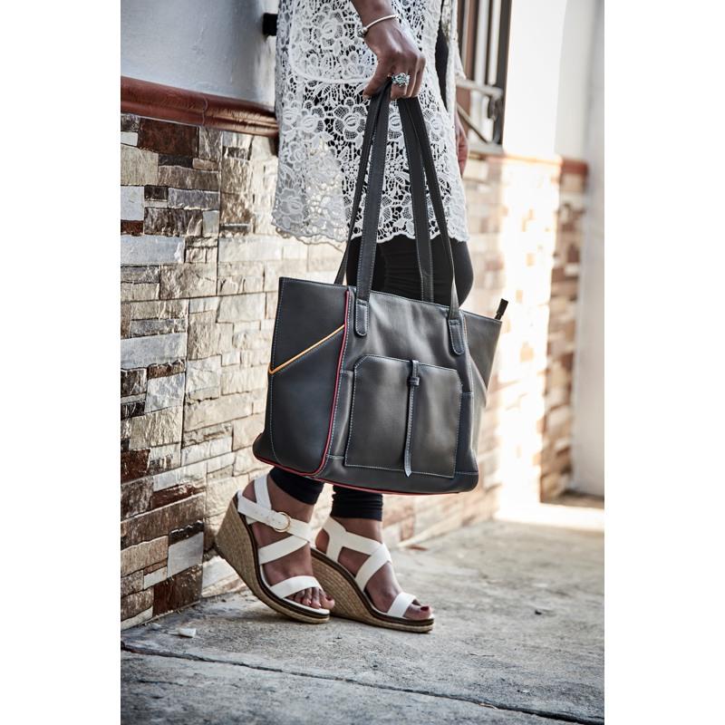 Pia Ries Shopper Sort/Turkis 5