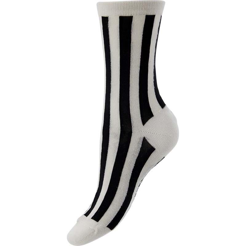 Bella Ballou Strømpe Stripe Sort 1