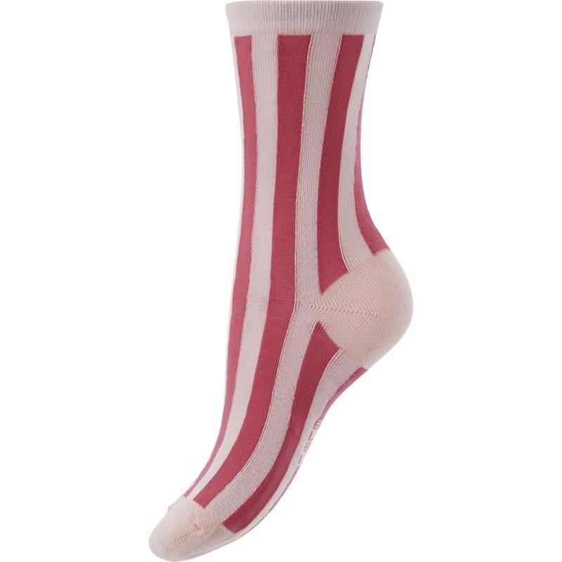 Bella Ballou Strømpe Stripe Pink 1