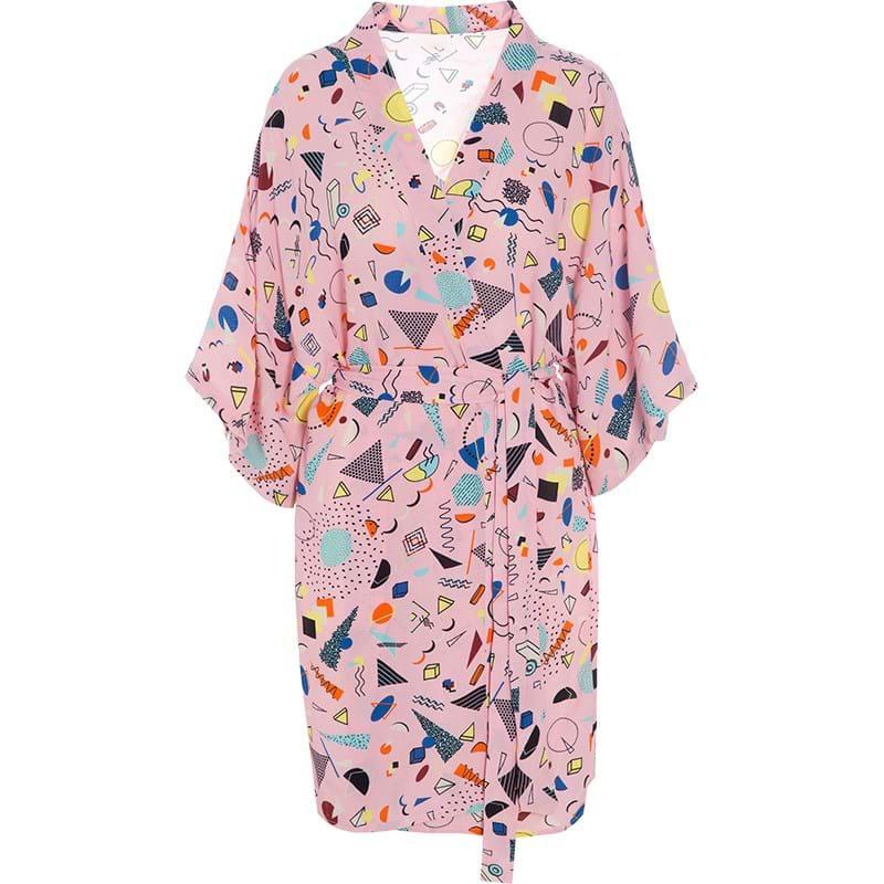 Bella Ballou Kimono Confetti Pink mønstret 1