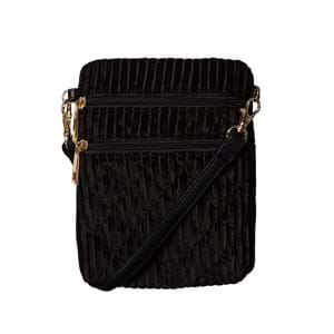 Sofie Schnoor Girls Crossbody Anja Velour Sort