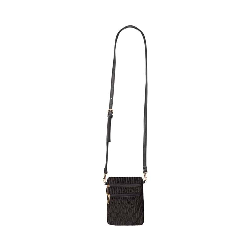 Sofie Schnoor Girls Crossbody Anja Velour Sort 2