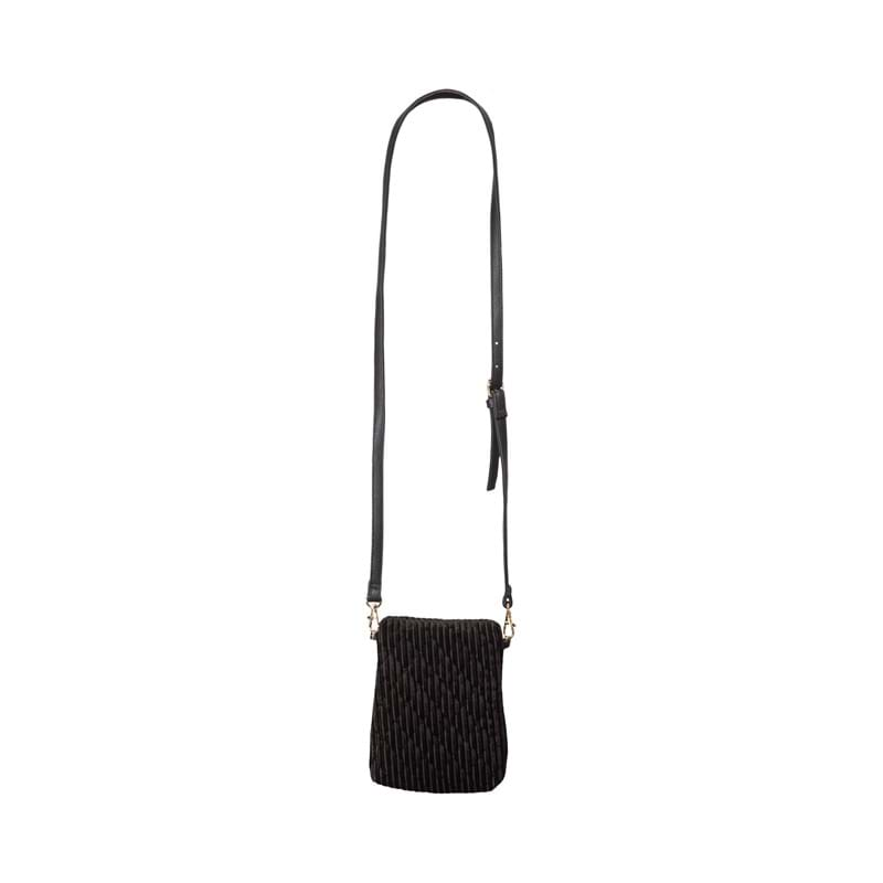 Sofie Schnoor Girls Crossbody Anja Velour Sort 3
