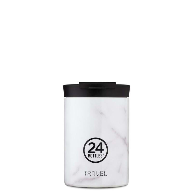 24Bottles Termokrus Travel Tumbler Hvid/Guld 1