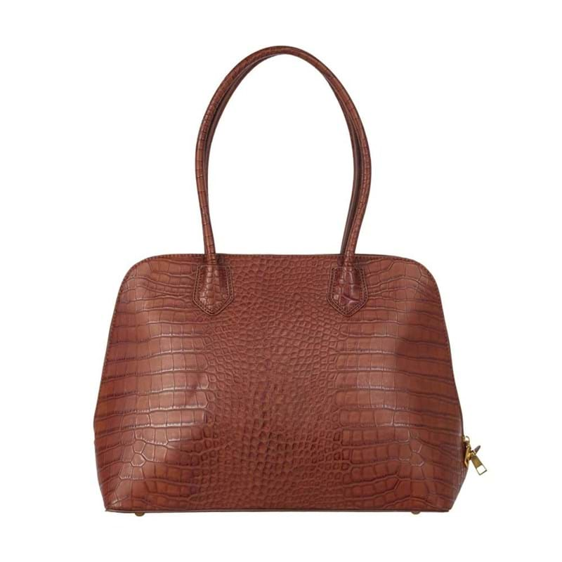 Saint Sulpice Computertaske Brown Croco 1