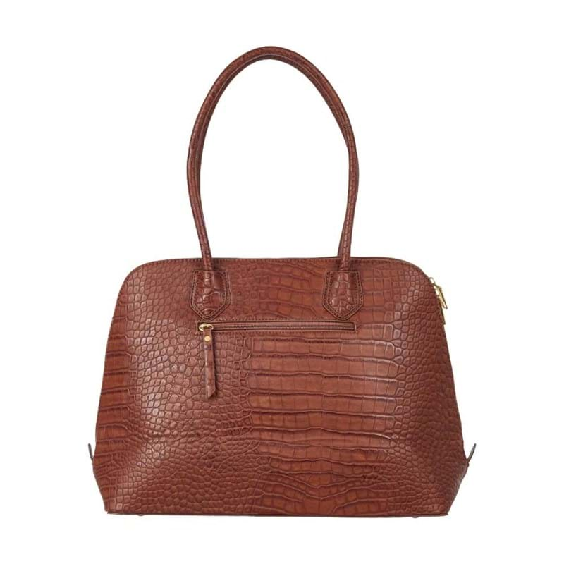 Saint Sulpice Computertaske Brown Croco 2