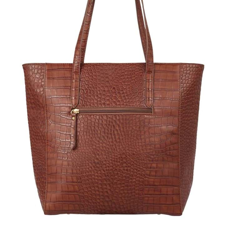 Saint Sulpice Shopper Brown Croco 2