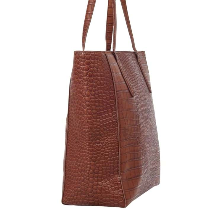 Saint Sulpice Shopper Brown Croco 4