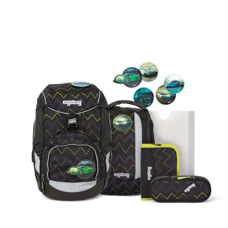 Ergobag Skoletaskesæt Pack Sort/Grøn 1