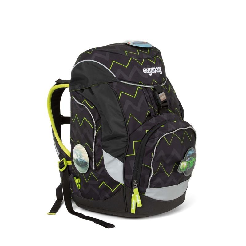 Ergobag Skoletaskesæt Pack Sort/Grøn 2