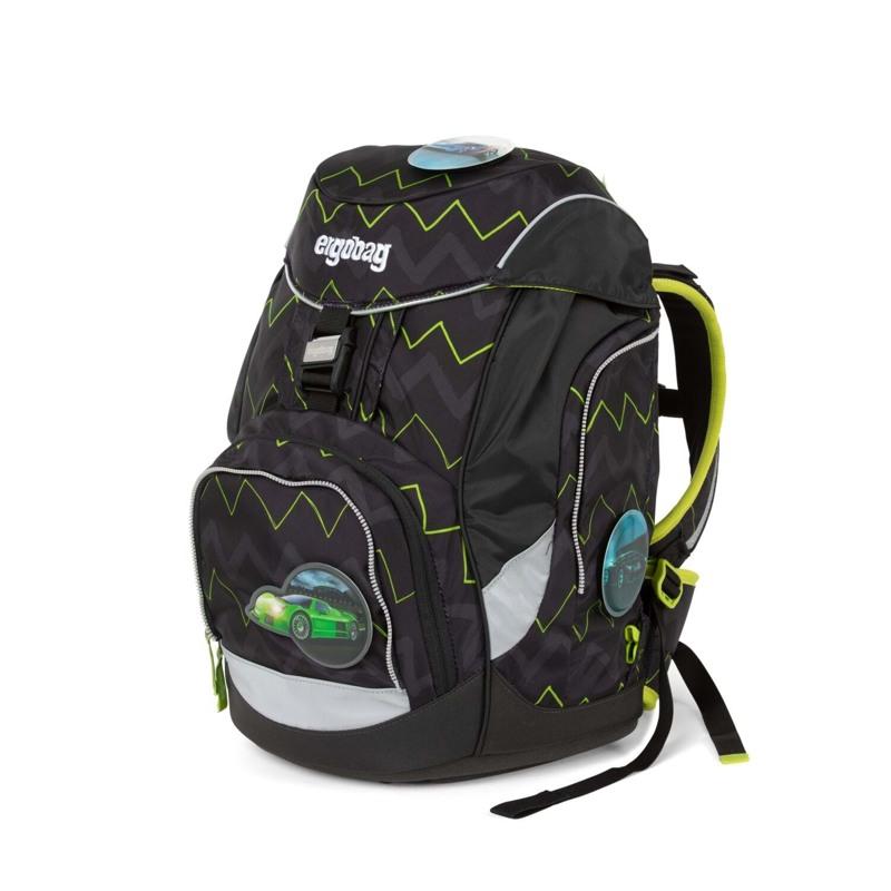 Ergobag Skoletaskesæt Pack Sort/Grøn 6