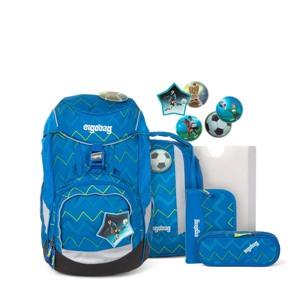 Ergobag Skoletaskesæt Pack Blå/Grøn