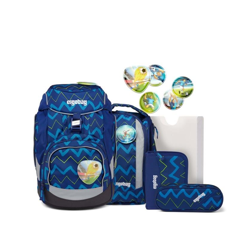 Ergobag Skoletaskesæt Pack Blå strib 1