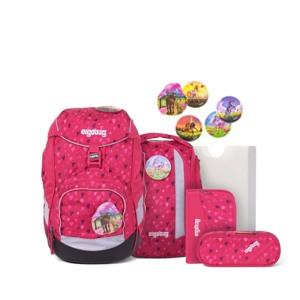 Ergobag Skoletaskesæt Pack Mørk Rosa