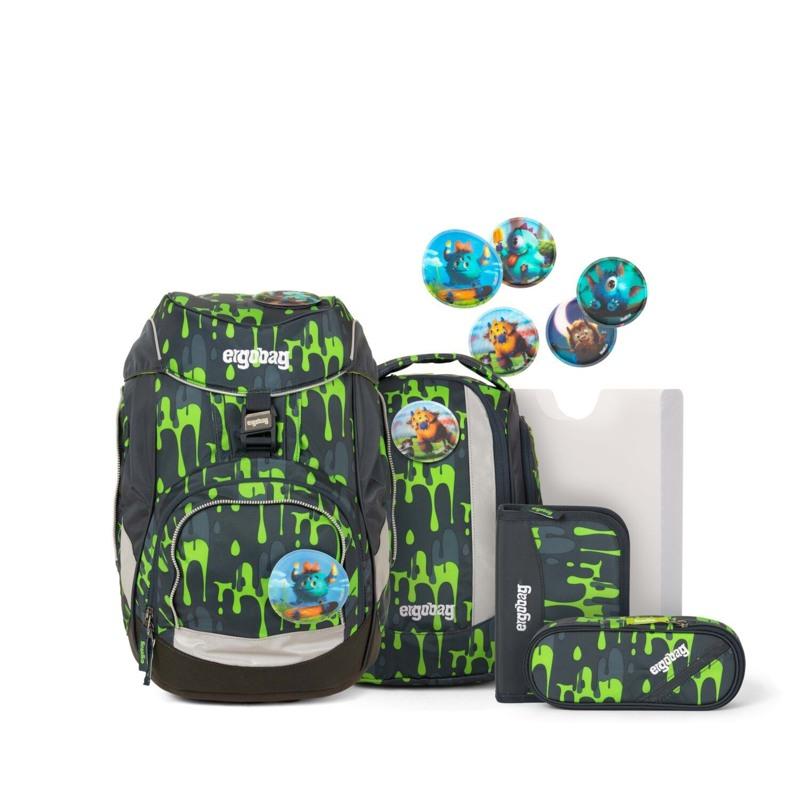 Ergobag Skoletaskesæt Pack Grå/grøn 1