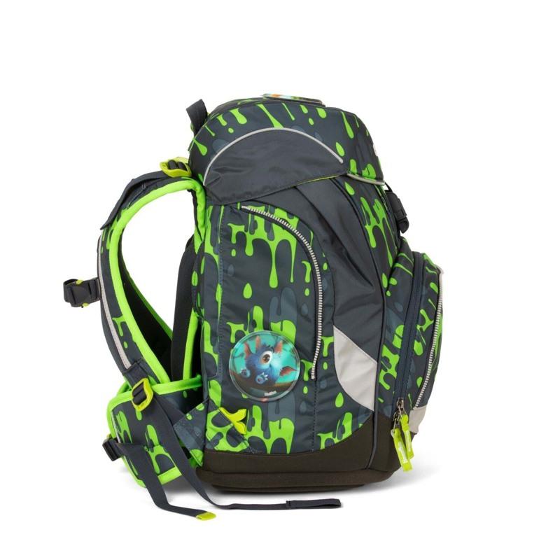 Ergobag Skoletaskesæt Pack Grå/grøn 3