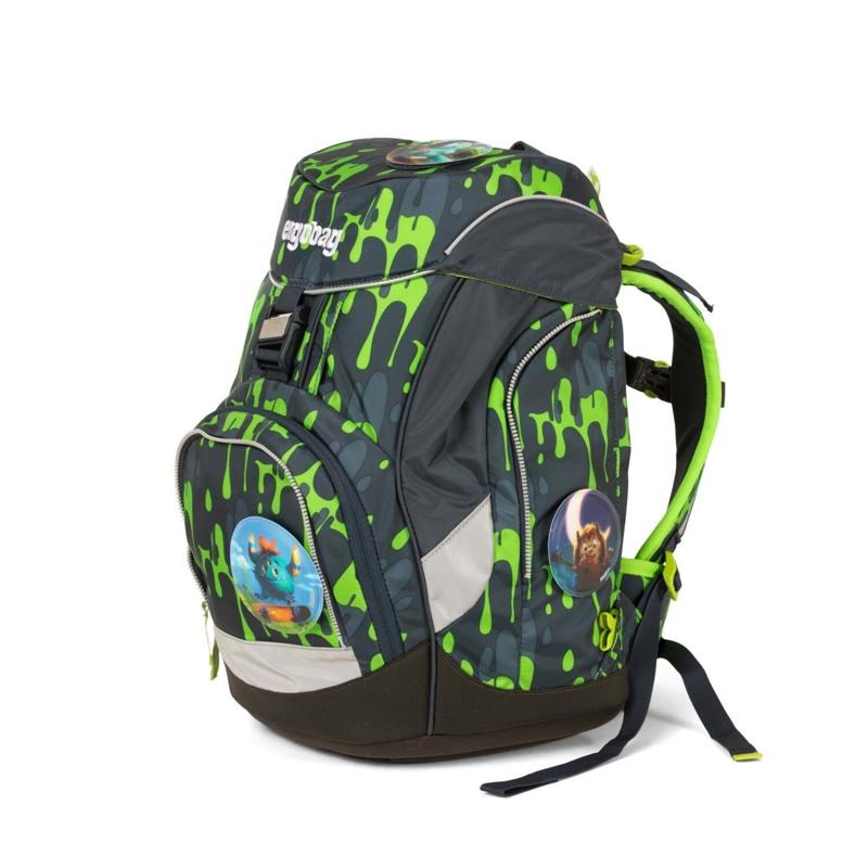 Ergobag Skoletaskesæt Pack Grå/grøn 6