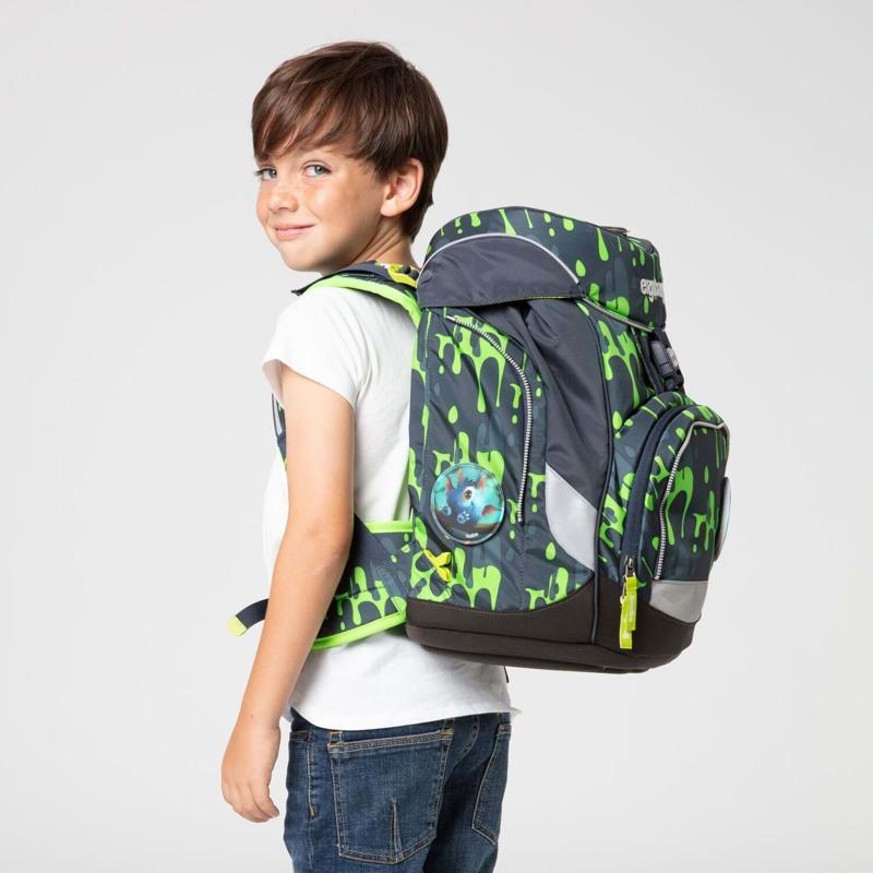 Ergobag Skoletaskesæt Pack Grå/grøn 7