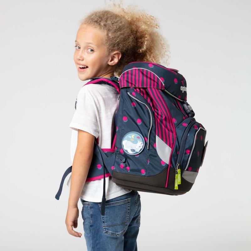 Ergobag Skoletaskesæt Pack Sort/pink 7