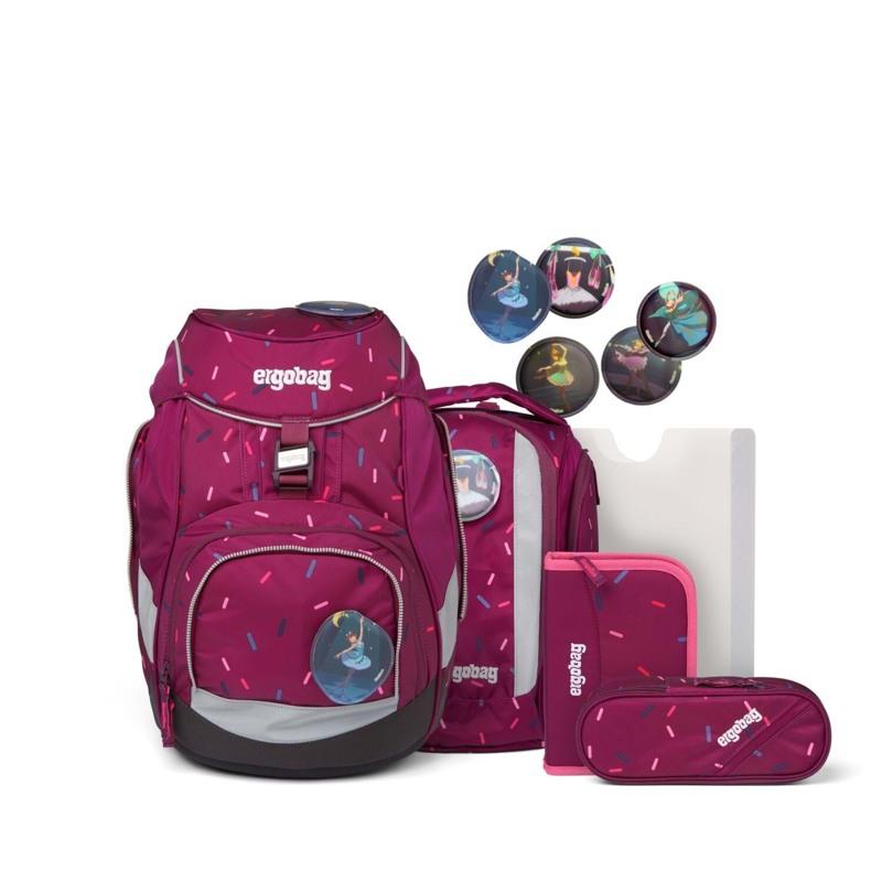 Ergobag Skoletaskesæt Pack Bordeaux m/prikker 1