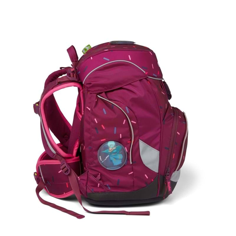 Ergobag Skoletaskesæt Pack Bordeaux m/prikker 4