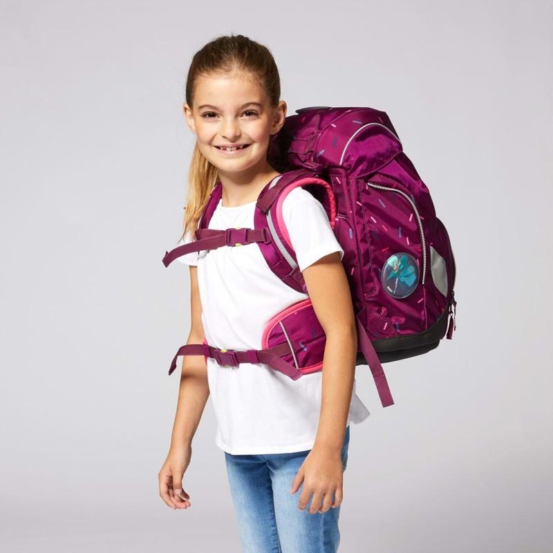 Ergobag Skoletaskesæt Pack Bordeaux m/prikker 7