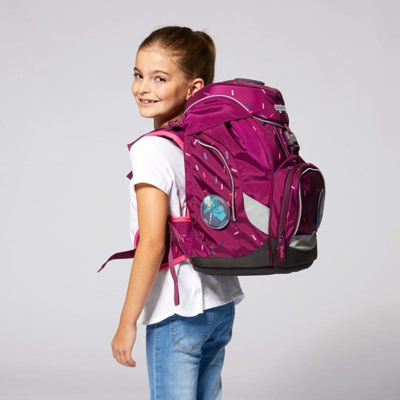 Ergobag Skoletaskesæt Pack Bordeaux m/prikker 6