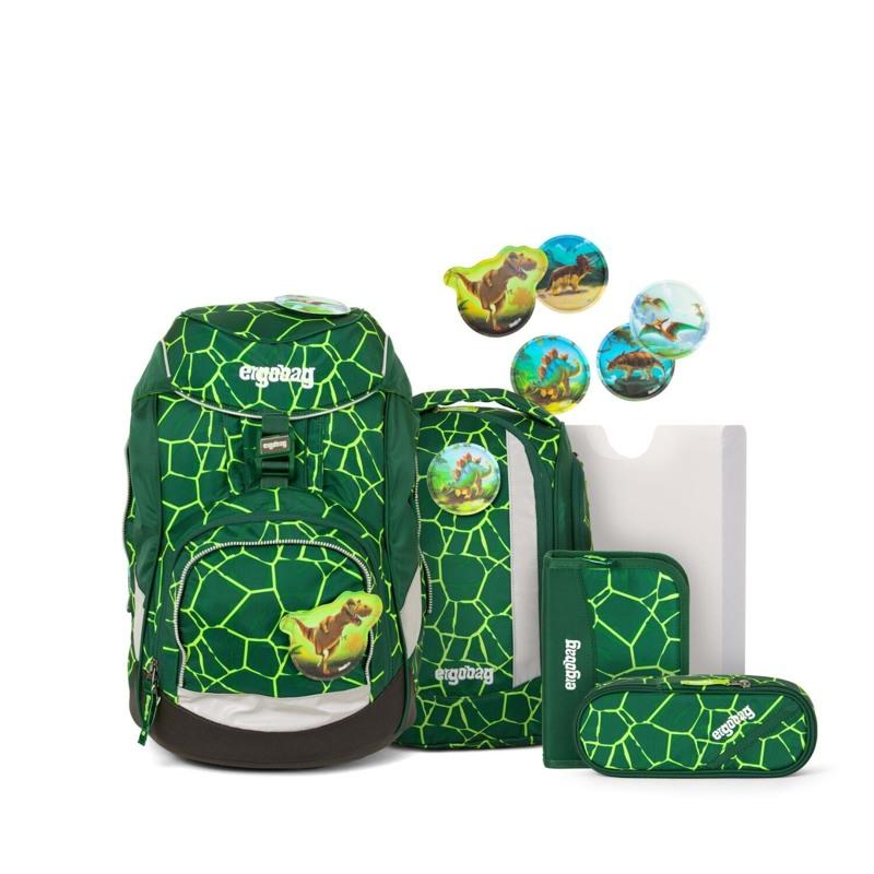 Ergobag Skoletaskesæt Pack Grøn/sort 1
