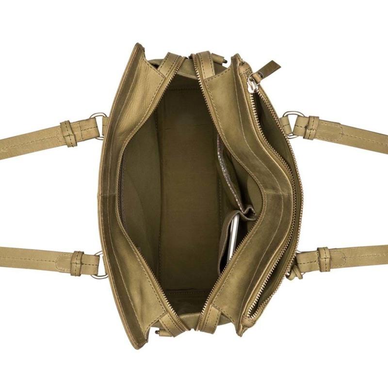 Burkely Håndtaske Croco Cody M Grøn 3