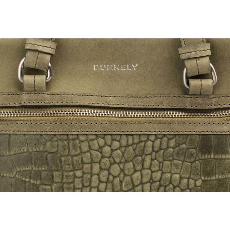 Burkely Håndtaske Croco Cody M Grøn 6