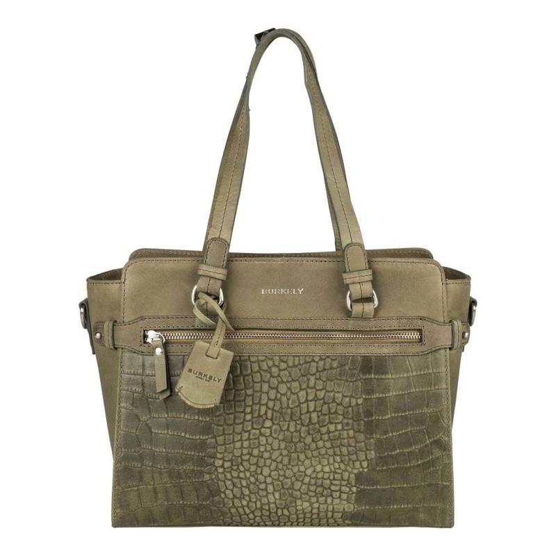 Burkely Håndtaske Croco Cody S Grøn 1