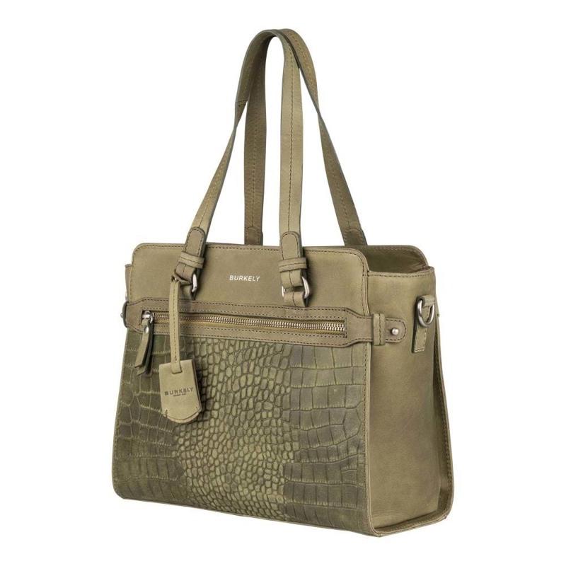 Burkely Håndtaske Croco Cody S Grøn 2