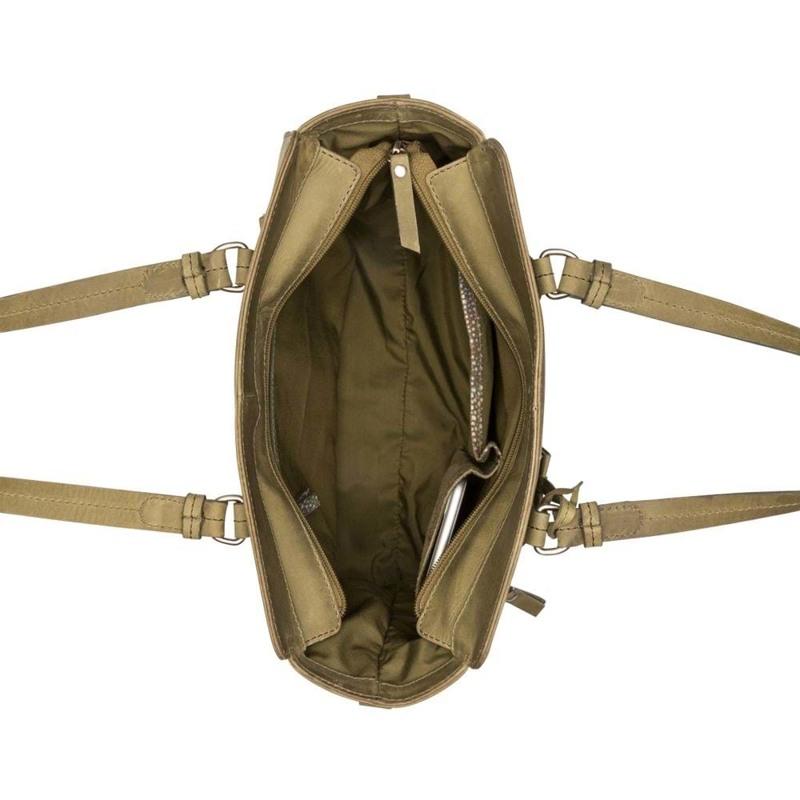 Burkely Håndtaske Croco Cody S Grøn 3