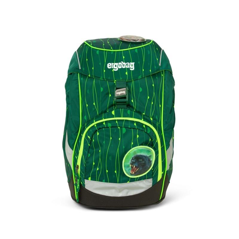 Ergobag Skoletaske Prime Lumi Edition Grøn mønster 1