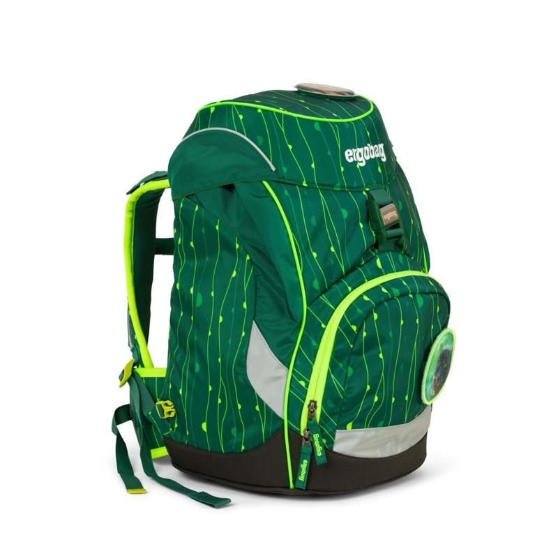 Ergobag Skoletaske Prime Lumi Edition Grøn mønster 2