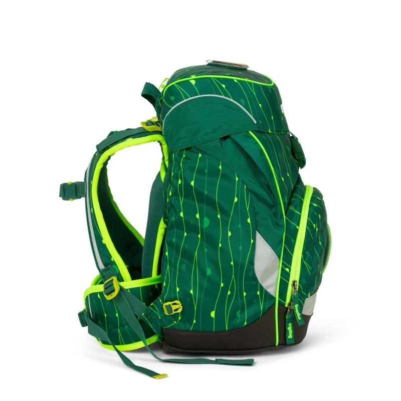Ergobag Skoletaske Prime Lumi Edition Grøn mønster 3