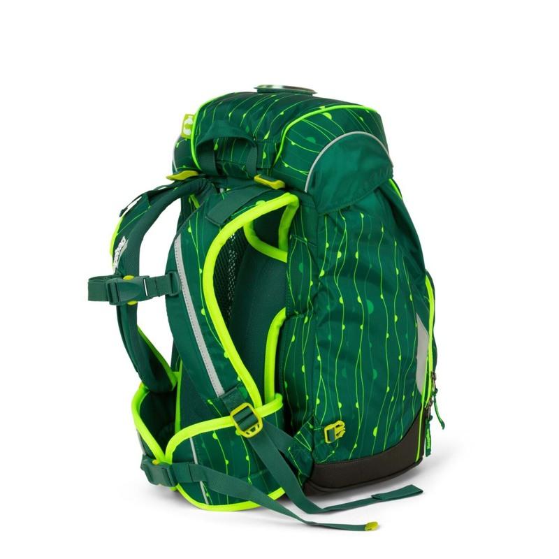 Ergobag Skoletaske Prime Lumi Edition Grøn mønster 4