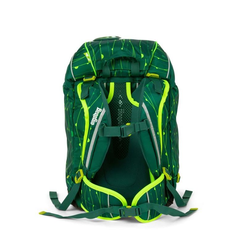 Ergobag Skoletaske Prime Lumi Edition Grøn mønster 5