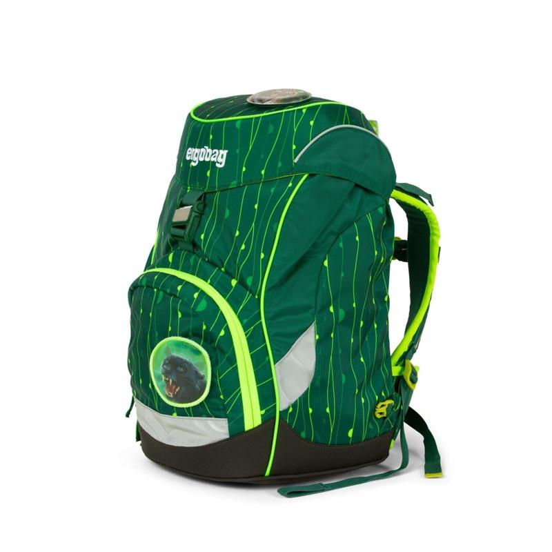 Ergobag Skoletaske Prime Lumi Edition Grøn mønster 6