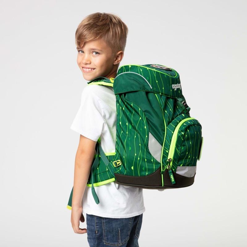 Ergobag Skoletaske Prime Lumi Edition Grøn mønster 7