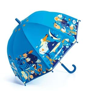 DJECO Børneparaply Seaworld Blå