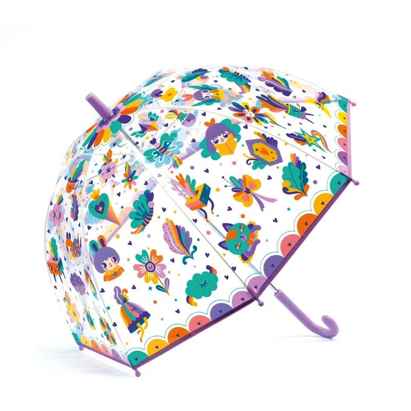 DJECO Børneparaply Pop rainbow Lilla 1