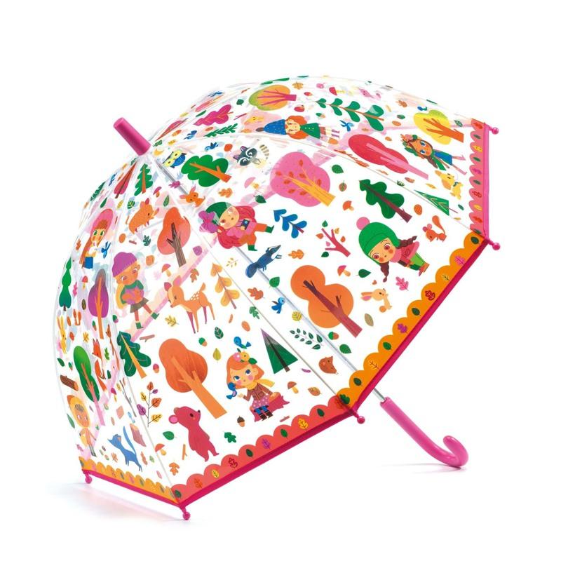 DJECO Børneparaply Forest Pink mønstret 1