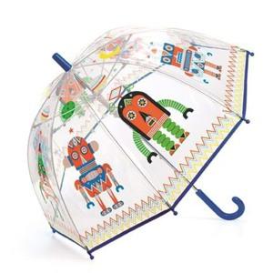 DJECO Børneparaply Robots Blå/orange