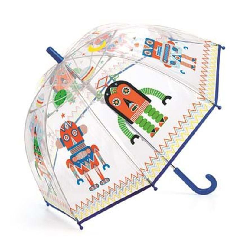 DJECO Børneparaply Robots Blå/orange 1