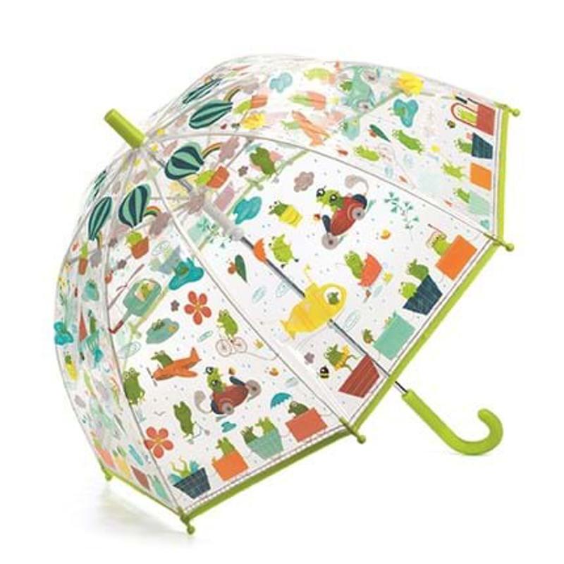 DJECO Børneparaply Froglets L. Grøn 1