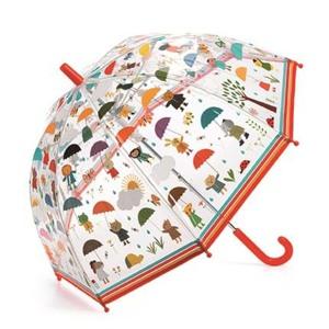 DJECO Børneparaply Under the rain Orange/rød